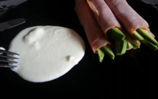 Schinkenröllchen mit Avocado