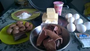 Zutaten für den Schokoladenkuche