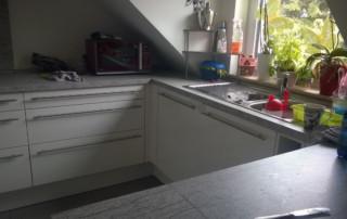Unordentliche Küche