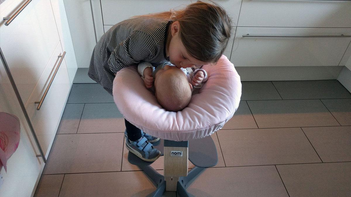 Hochstuhl Mit Babyaufsatz ~ Nomi babyaufsatz im einsatz