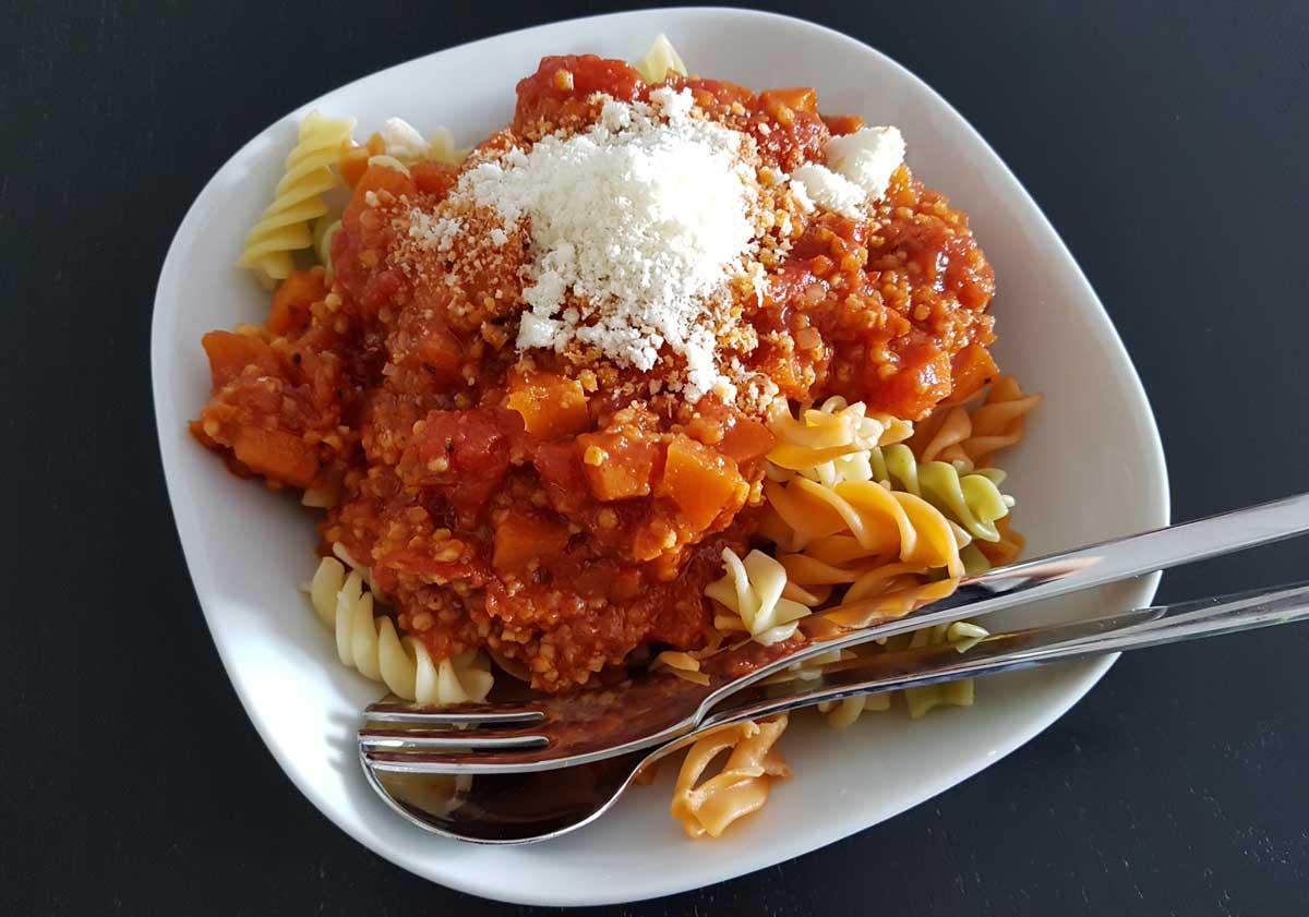 Rezeüt für vegane Bolognese Soße