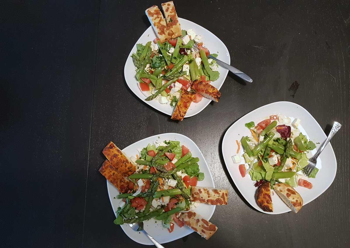 Rezept mit Spargel Salat