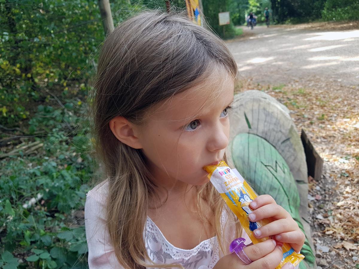 Eis essen mit HiPP
