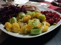 Fruchtige Entenbrust an Kürbisgnocchi und Rotkohl