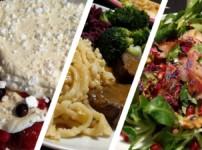 Weihnachtsessen mit Granatapfel-Feldsalat, Wildbraten und Baiser-Creme