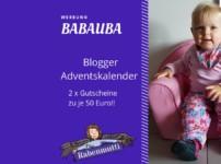 Großer Blogger-Adventskalender: Wir verlosen Babauba-Gutscheine