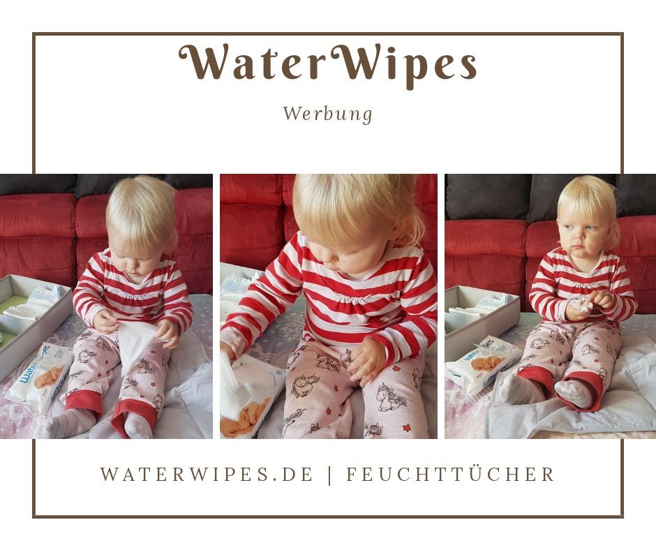 Marie spielt mit den WaterWipes