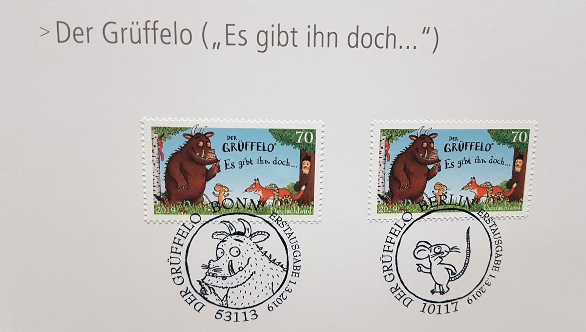 Die neue Grüffelo Briefmarke