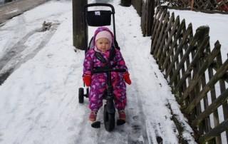 Smartrike Smartfold im Schnee
