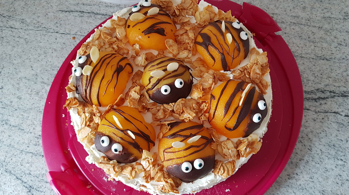 Bienenkuchen von oben